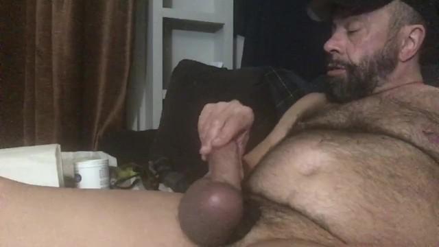 Pompato palle di papà, che batte il mio peloso cazzo